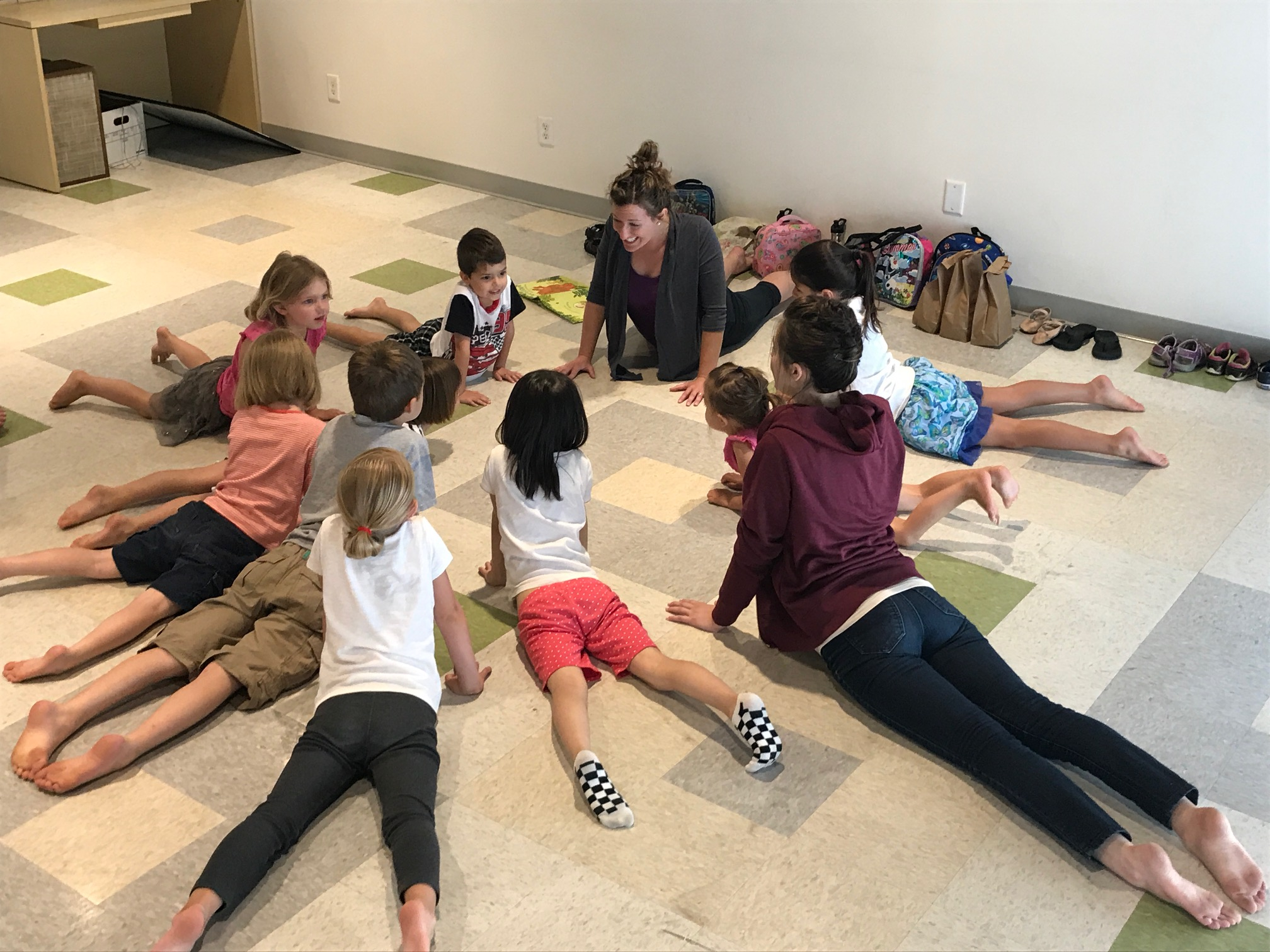 Yoga at GMS Summer Kids Camp
